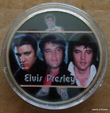 ELVIS PRESLEY THE KING OF ROCK N ROLL  24K GOLD  PLATED MEMORABILIA COIN #31 s