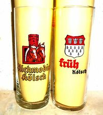 2 Richmodis & Fruh Kolsch Soccer Worldcup 1982 Spain German Beer Glasses