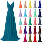 Long Sexy Chiffon Formal Prom/Bridesmaid Cocktail Party Evening Stock Dress 6-22