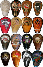 Bobber Chopper Rigid Solo Custom Leather Motorcycle Seat Harley Hand Tooled Dyed