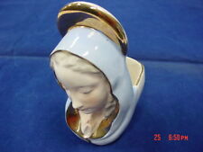 Vintage Planter Porcelain Mother Madonna Relpo Mary Religious Praying Hands