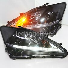 Balck Housing for Lexus IS250 IS300 IS350 LED Front Lights 2006-2012 Year SN