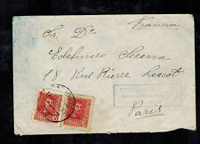 1938 Zaragoza Spain San JuanConcentration camp cover to paris France