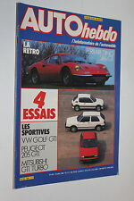 Auto Hebdo 429-84-VW Golf GTi-Mitsubishi Colt Turbo-205 GTi-Dino 246 GT-Alliance
