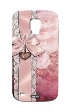 CUSTODIA COVER CASE FIOCCO ROSA RIBBON PINK PER SAMSUNG GALAXY S5 MINI G800