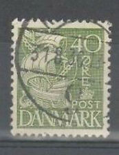 posted 31st August 1936 - danish stamp - green showing ship