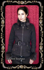 Tripp NYC Gothic Lolita Victorian Punk Anime Cosplay Fur Collar Zip Up Jacket XL