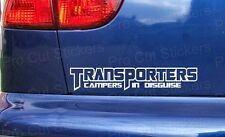 200mm (20cm) Transporters Campers in Disguise Sticker Decal Graphic VW T2 T4 T5