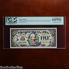 2005 D Series $5 DISNEY DOLLAR Donald PCGS 64PPQ Very Choice New NO BAR CODE