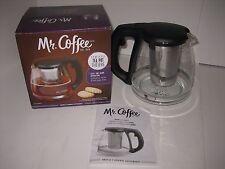 NIB Mr. Coffee 1.2 Quart Glass Tea Pot Teapot with Infuser NEW IN BOX