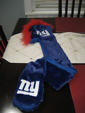 MENS/WOMENS NEW YORK GIANTS Mohawk Dangle Hat with hand warmers plush NWT