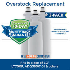 LG LT700P ADQ36006102 9690 EFF-6032A WF700 Comparable Water Filter 3 Pack