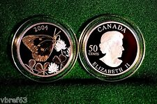 2004 CANADA 50 cent Clouded Sulfur Butterfly Sterling silver