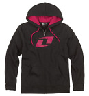ONE INDUSTRIES WOMENS ET ZIP HOODIE BLACK RAVEN PINK jumper motocross mx new