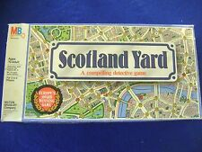 Vintage 1985 Scotland Yard  - Detective Board Game - By Milton Bradley  - Used