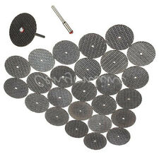 25x Black Cutting 32mm Wheel Disc + 1 Mandrel Bit For Dremel Rotary Tool Set