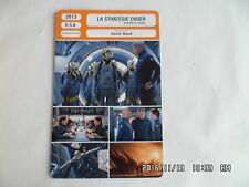 CARTE FICHE CINEMA 2013 LA STRATEGIE ENDER Asa Butterfield Harrison Ford