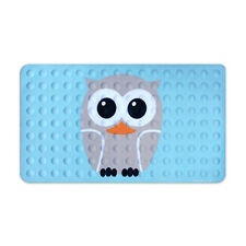 Kikkerland Bath Mat Owl Bathroom Decor Shower No Slip Mildew Resistant Rubber