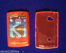SONY Ericsson X10 Mini Pro Gel Morbido Arancione Cover coefficiente