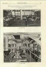 1914 Engine Room Of The Motor Ship Arum Upper Middle Starting Platforms