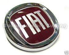 FRIEZE ARMS FRONT FIAT LOGO ROSSO CHROME-PLATED ø 95mm GRANDE PUNTO 43.283