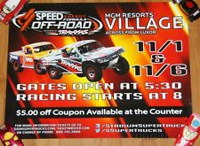 2014 Robby Gordon MGM Resorts SST Off Road Las Vegas event poster