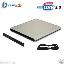 USB 3.0 External Enclosure Case For 9.5mm SATA CD DVD RW Blu-ray Drive 2.5 inch
