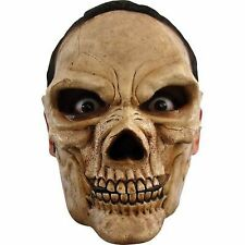 Skull Head Skeleton 2 Piece Moving Mouth Adult Latex Mask Halloween Prop
