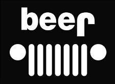 'BEER' Jeep Decal