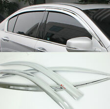 Chrome Door Window Sun Visor Wind Rain Vent 4p 1SET For 12 13 14 Honda Accord