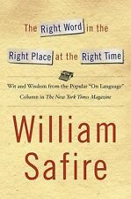 The Right Word in the Right Place at the Right Time: Wit and Wisdom fr-ExLibrary