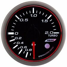 52mm 3 colors LED Electrical turbo boost gauge with warning and peak (BAR)