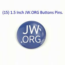 15 1.5 Inch JW.ORG Buttons Pins.