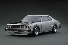 ignition model 1/43 Nissan Skyline 2000 GT-ES (C210) Silver Resin Model IG0309