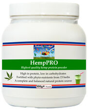 HempPRO (500g) Hemp Protein Powder + Beneficial Herbs and Superfoods Supplement