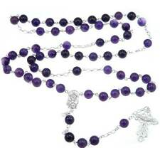 Amethyst Sterling Silver Rosary Beads
