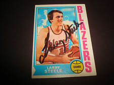 Larry Steele 1974-75 Topps #21 Blazers Kentucky Signed Authentic Autograph N13