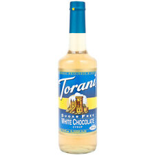 Sugar Free WHITE CHOCOLATE Flavoring Syrup COFFEE Torani 750  m