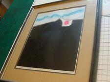 """original Fernando Vilchis """"muro no cuatro"""" intaglio, signed & framed"""
