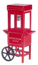 Dollhouse Miniature - Popcorn Dispenser Old Fashion Red Wagon Cart Popper
