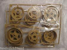 New Tamiya Fast Attack Vehicle Wheel Set Tan Color Fits FAV & Rough Rider