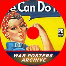 MASSIVE WAR POSTERS ARCHIVE ON PC CD OVER 4500 NOSTALGIC IMAGES FROM WW2 ERA NEW