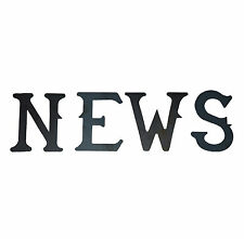 """A Set of 4 Steel North South East West NEWS Weathervane Letters 2"""" - Laser cut"""