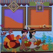 Thanksgiving Pilgrim Turkey SIMPLY SCRAPBOOK Premade Scrapbook Pages Layout