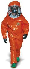 Kappler Z5H550 LG/XL Level A Fully Encapsulated Hazmat Suit-Orange