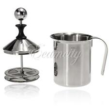 400ml Stainless Steel Milk Frother Cappuccino Coffee Frother Double Froth