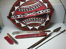 African Masai Shield Sword Knife Spear Lot Old and / New
