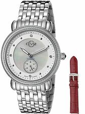 GV2 by Gevril 9830 Marsala Swiss Stainless Steel Women's Diamond Watch