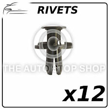 Clips rivets en plastique 8 mm carénages mic (tous les véhicules) partie numéro 12549 12pack