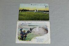 2 Ansichtskarten - Soldaten - WW1 - 1. Weltkrieg - gelaufen 1905 + 1907   /S138